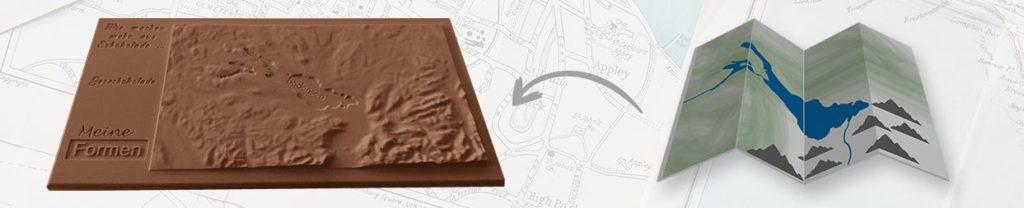 Chocolate moulds for geochocolate